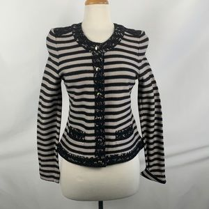 NEW Gerry Weber Striped Blazer with Lace Trimming
